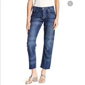 Current/Elliott Crossover Straight Bandana Jeans